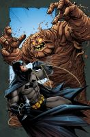Batman VS Clayface RH by RossHughes