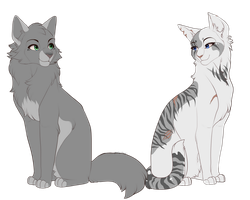 Dovewing and Ivypool by PureSpiritFlower