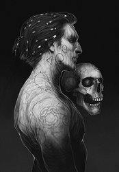 Torment: The Nameless One and Morte by coupleofkooks
