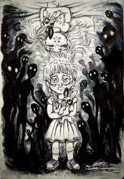 Drawlloween DAY #19 - Nightmare Nomads by Tatmione