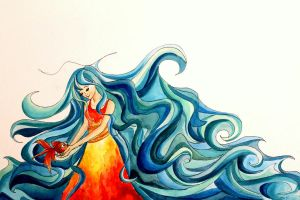 She is the Ocean by artsyfartsyness