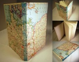 Vintage Map Journal by sweet-travesty