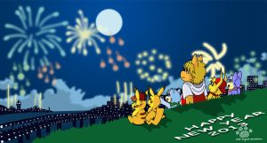 Happy New Year 2013 by Coshi-Dragonite