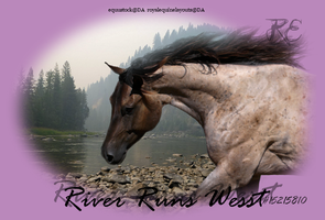 River Runs Wesst by RoyalEquineDesigns