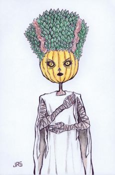 Pumpkin Bride Of Frankenstein [46a] by JRS-ART