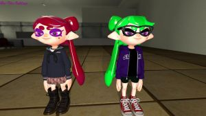 Bri and Ellie Squid Sister Form 2 by britheinkling