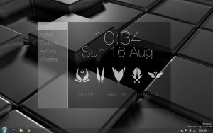 Homescreen Rainmeter Final by taipan-snake