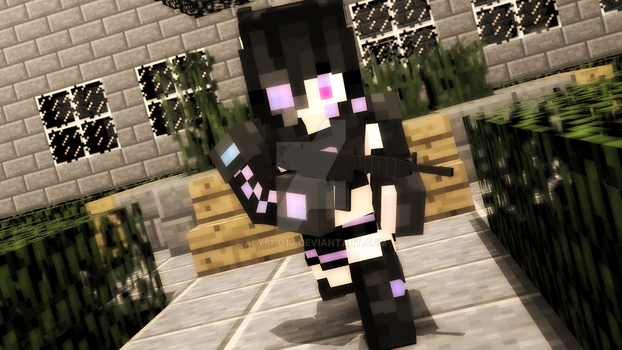Kuro Shirtsuyu in the Battlefield [Minecraft Skin] by alysho10