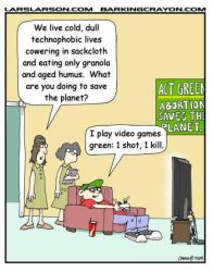 Green Video Gamer by Conservatoons
