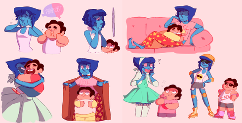 water mom and steven son. by kyoukorpse