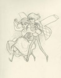 Howl and Sophie by fyre-flye