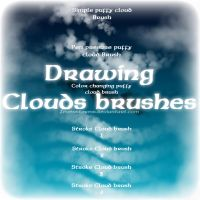 Drawing clouds Brush by zevenstorms
