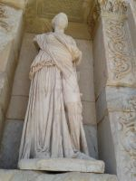 statue of lady or man i am not sure by blackroselover