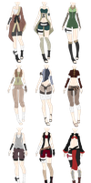 Naruto Outfit Adoptables 1 [CLOSED] by xNoakix3
