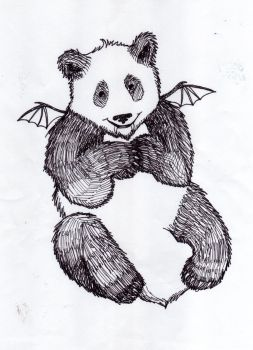 A panda that's also a vampire. by theceruleancreep