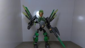 Lewa Combiner of Jungle (Toa Mode) by sideshowOfMadness