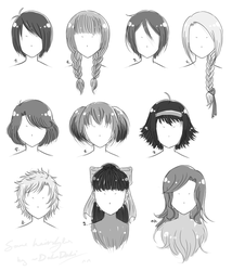 Just Some Hairstyle References By Dokudoki On Deviantart