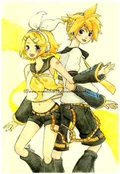 :Vocaloid Rin and Len: by Moonlilith91