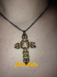 Chainmaille Cross Necklace by the-un4given-1