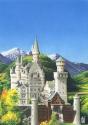 NEUSCHWANSTEIN CASTLE_GERMANY. by toniart57