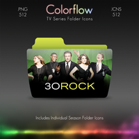 Colorflow TV Folder Icons: 30 Rock by Crazyfool16