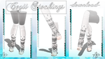 [MMD] Cozii Stockings Socks -DL- by DeidaraChanHeart