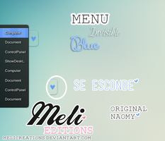 Menu Invisible Blue by MeliCreations