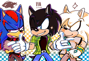 Jin, Jack, and Jardo (art trade) by Ousul