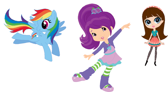 Rainbow Dash Plum Pudding and Blythe Baxter by user15432