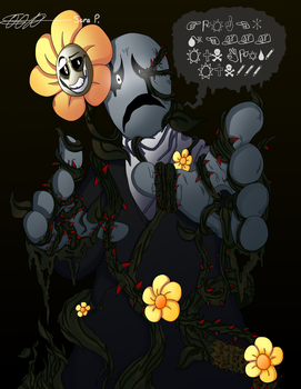 Flowey Possessed Gaster by 89animegirl