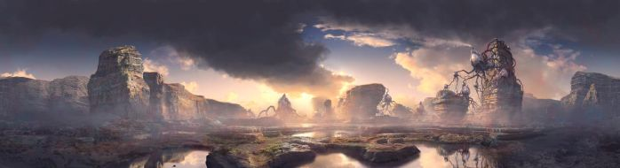 Exoplanet Matte Painting by 2buiArt