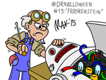 Drawlloween 13 - Frankenstein by megawackymax