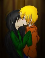 Other kiss in the wardrobe KND by JaelynGS