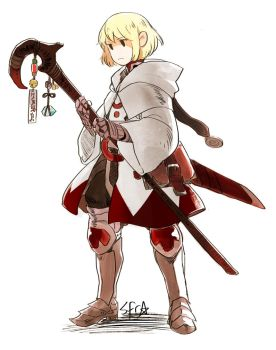 White Mage Ren by demitasse-lover