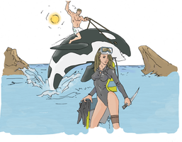 scuba drawing by electronicdave