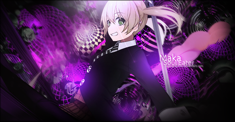 Sign - Maka Soul Eater by RogerGraphics