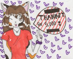 Thanks for 5000 by cali-cat