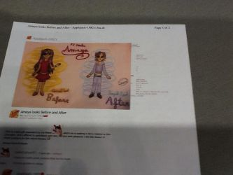 a photo of a picture of Amaya bfore and after by sailorcancer01