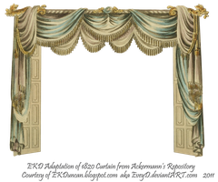 1820 EKD Regency Curtain Room 1 - curtain only by EveyD