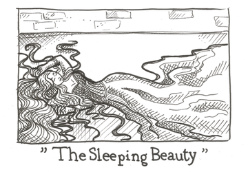 Inktober day 17 - The Sleeping Beauty by Kaizoku-hime