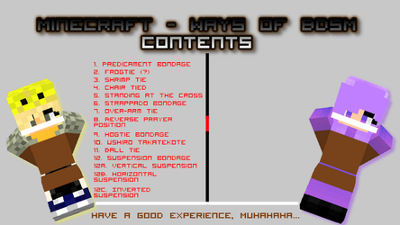 Minecraft - Ways of BDSM contents by MCtiedWTF