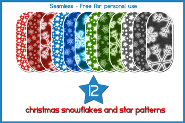 12 Snowflakes and Star patterns by gollygirls
