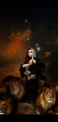 Circe and her lions by Mithgariel