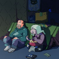 greg and amethyst by bar3434