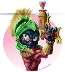 Marvin the Martian by MalSemmensArt