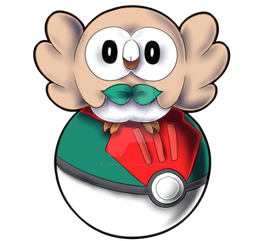 PKMN STICKERS: Rowlet by PridePenguins