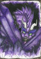 28. ACEO - Kyuubreon by Tir-Goldeness