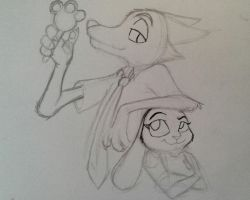 Nick and Judy WIP by KGH786