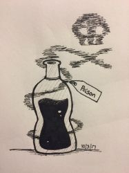 Inktober Day 3: Poison by Panolli