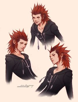 Axel sketch drawings by Zolaida
